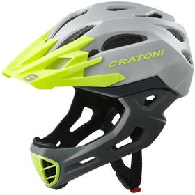 Cratoni C-Maniac Freeride Helmet grey/lime matte
